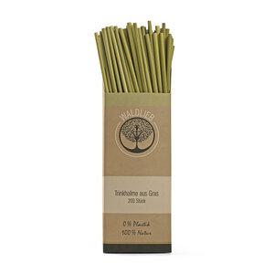 Trinkhalme aus Gras - die natürliche Alternative zum Plastik-Strohhalm -200 Stück- - Waldlieb