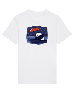 Panda Under Rain | T-Shirt Unisex - wat? Apparel UNISEX