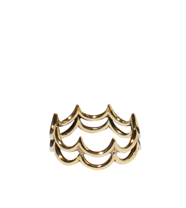 Big Waves Ring, Messing oder Sterling Silber - ting goods