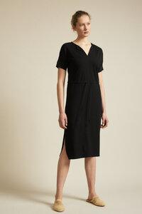Kleid mit V-Ausschnitt aus Hanf mit Bio-Baumwolle - LANIUS