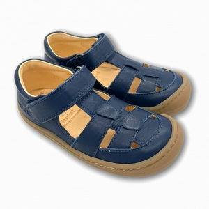 Barfußschuhe Sandalen Glattleder blau - Koel4kids