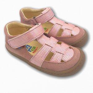 Bio Barfußschuhe Sandalen rosa glitzer - Koel4kids