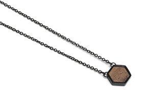 Kette mit Anhänger in Hexagon Form - Apis Nox Necklace Hexagon - BeWooden