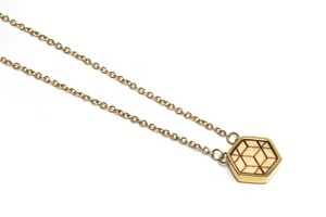 Kette mit Anhänger in Hexagon Form - Virie Necklace Hexagon - BeWooden