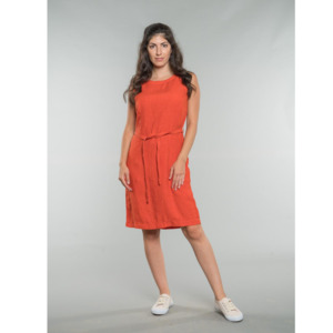 Kim | Shift Dress | Linen - Feuervogl