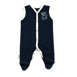 Lotties Baby-Strampler ärmellos Maus Bio Baumwolle rot oder blau 50/56-74/80 - Lotties
