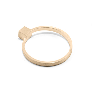 Ring CUBE, Gold 585, 14 karat, Größe 50 - 56, Handmade in Germany, JRJ - Jonathan Radetz Jewellery