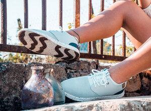 Vegane Sneaker für Damen - nebliges Blau Semnoz - SAOLA