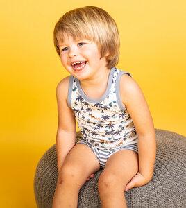 Jungen Unterhemden mit Palmen oder Ringel aus Biobaumwolle - Sense Organics & friends in cooperation with GARY MASH