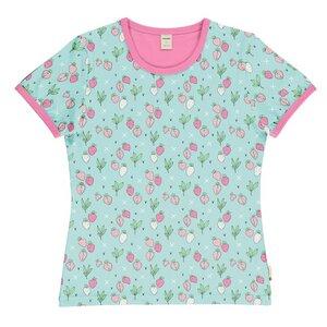 Meyadey Frauen T-Shirt strawberry Erdbeere - Meyadey