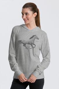 Bio-Jersey-Kapuzensweater Horsepower - Peaces.bio - Neutral® - handbedruckt