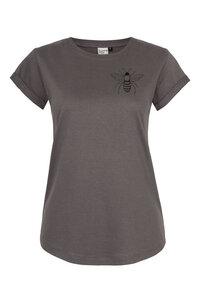 Frauen T-Shirt mit Biene Made in Kenia aus Biobaumwolle dunkelgrau - ilovemixtapes
