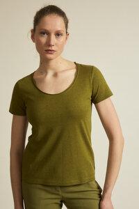 Rundhalsshirt aus Hanf mit Bio-Baumwolle - LANIUS
