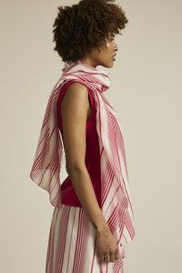 Schal Print Stripe aus Bio-Baumwolle mit Seide - LANIUS