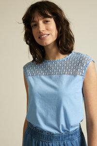 Shirt mit Spitzeneinsatz aus Bio-Baumwolle - LANIUS