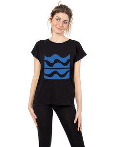"""Damen T-Shirt aus Eukalyptus Faser """"Laura""""   Wellen - CORA happywear"""