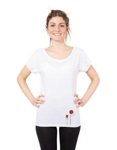 "Damen T-Shirt aus Eukalyptus Faser ""Elisabeth"" | Rosen - CORA happywear"