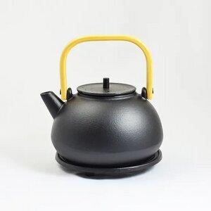 Teekanne aus Gußeisen mit Bambushenkel Mubing und Untersetzer wunderschön 0,8 l - ja-unendlich