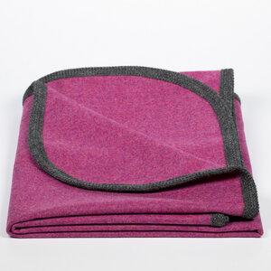 Decke aus 100% Merinowolle, Leichtloden in rot, blau, grün, pink, grau - nahtur-design