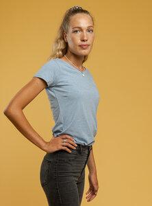 Damen T-Shirt in Melange-Farben - Fairtrade & GOTS zertifiziert - MELAWEAR