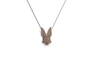 Halskette Hase | Kette mit Anhänger aus Holz - BeWooden