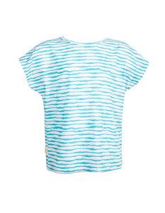 Gestreiftes Eukalyptus T-Shirt Laura - CORA happywear