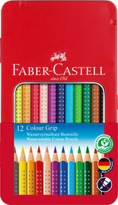 Buntstift Colour Grip 12er-Metalletui - Faber-Castell