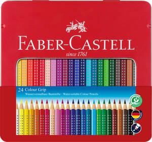 Buntstift Colour Grip 24er-Metalletui - Faber-Castell