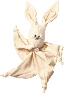 Lotties Baby Kuscheltuch Schmusetuch aus Bio Baumwolle Hase - Lotties