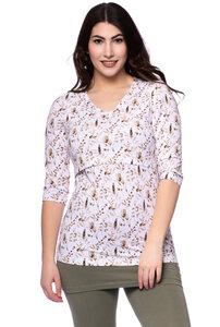 ELLY Umstands- und Stillshirt 3/4 Arm aus Bio Baumwolle - Milchshake