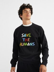 Save The Humans Sweatshirt - thinking mu