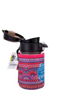 Kleiner Glasbecher mit Bezug Tee 250 ml Einhandverschluss - Dora