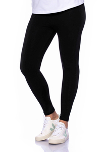 High-Waist Basic Leggings aus weichem Modal French-Terry - Milchshake