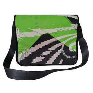 Handgearbeitete Laptoptasche Size L aus Kitesegeln / Segeltuch Unikat - Beachbreak