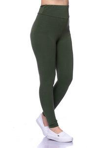 High-Waist Basic Leggings aus weichem Modal French-Terry - Milchshake