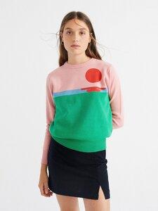 Sweater Sunset Trash Knit - thinking mu