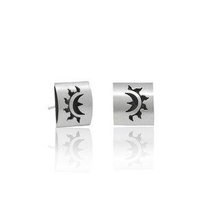 Silber Ohrringe Sonne Fair-Trade und handmade - pakilia