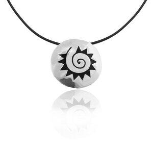 Kette Silber Azteken-Sonne Anhänger handmade sustainable Fair-Trade - pakilia