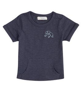 Baby T-Shirt mit Kängurutasche navy aus Biobaumwolle - Sense Organics & friends in cooperation with GARY MASH