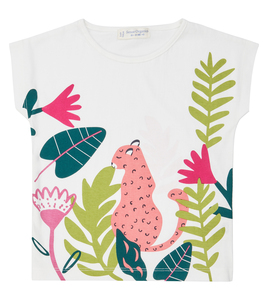 T-Shirt rosa Leopard aus Biobaumwolle - Sense Organics & friends in cooperation with GARY MASH