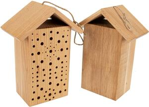 Nistholz Wildbienen – Haus aus massivem Buchenholz mit Bohrungen Größe: circa 25x18x9 cm - ReineNatur