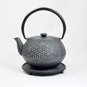 Teekanne aus Gußeisen Hoshi und Untersetzer wunderschön 1,1 l - ja-unendlich
