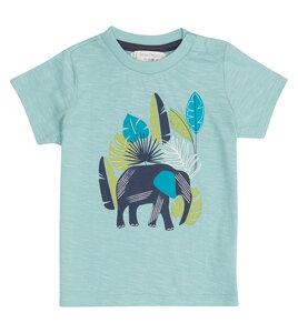 Blaues Kinder T-Shirt mit Elefant aus Biobaumwolle - Sense Organics & friends in cooperation with GARY MASH