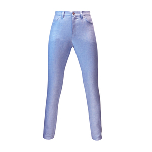 """Tapered-Leg Damen Leinen-Hanf-Jeans """"D. Bowie"""" GlacierBlue (hellblau) - Y/O/U"""