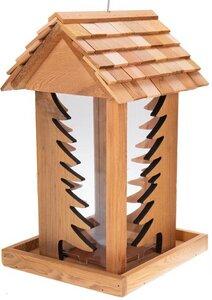 Vogelfutterhaus aus Zedernholz - Fenster in Tannenform - Wetterfest - ReineNatur