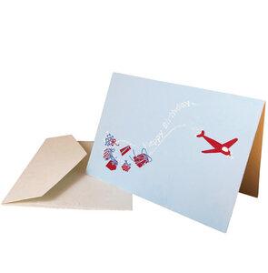 Geburtstagskarte/Glückwunschkarte - Flieger - Salon Elfi