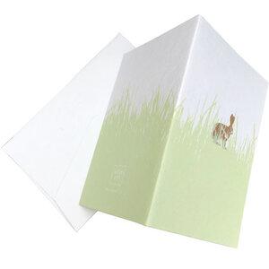 Osterklappkarte mit Hasen-Druck und Briefumschlag - Salon Elfi