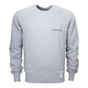 7 BEAUFORT/ Sweatshirt, grau meliert, schwarzer Print, Biobaumwolle - Waterkoog