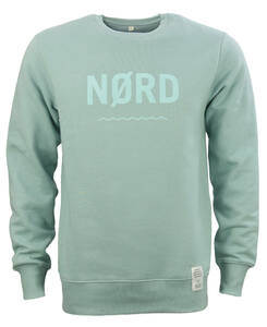 Sweatshirt NØRD NM, unisex in Northern Mint aus Biobaumwolle mit Brustprint NØRD - Waterkoog