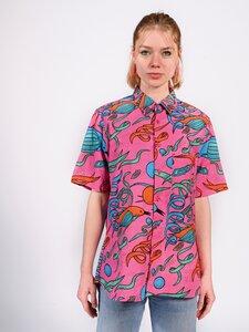 Kurzarmhemd Matar Sunugal Pink / Hellblau / Orange Damen - Sunugal